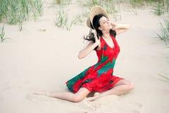 Georgian girl on the beach Royalty Free Stock Image