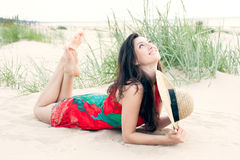 Georgian girl on the beach Stock Photo