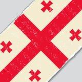 Georgian grunge flag. Vector illustration. Royalty Free Stock Photo
