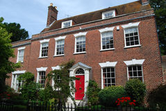 Georgian house Poole Dorset. Facade of fine Georgian Vicarage in Poole Old Town, Dorset Stock Photos
