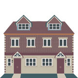 Georgian House Vector Illustration Stock Photo