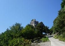 Georgian Katskhi Pillar Far View stock image