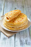 Georgian khachapuri a flat cake with cheese Royalty Free Stock Image