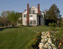 Georgian mansion in Spring Royalty Free Stock Photos