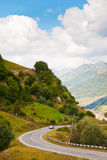 Georgian military road in valley of Aragvi river. In caucasus mountains in georgia Royalty Free Stock Photography