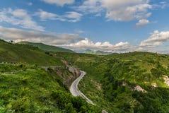 Georgian mountain road Stock Photos