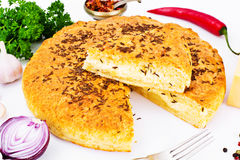 Georgian National Dish Pie with Cheese and Caraway Khachapuri Royalty Free Stock Photos