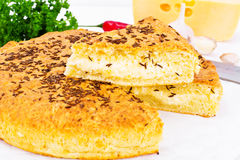 Georgian National Dish Pie with Cheese and Caraway Khachapuri Royalty Free Stock Images