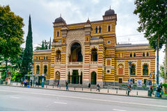 Georgian National Opera and Ballet Theater in Tbilisi, Georgia. Tbilisi, Georgia - September 23, 2016: Georgian National Opera and Ballet Theater on Rustaveli Royalty Free Stock Photos