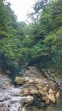 Georgian nature. Martvili royalty free stock photography