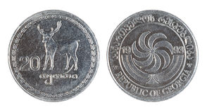 Georgian old coin (1993 year) Stock Photography