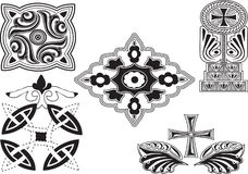 Georgian ornaments set Royalty Free Stock Image
