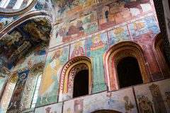 Georgian orthodox monastery Gelati inside stock images