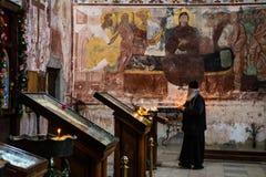 Georgian orthodox monastery Gelati inside stock photography