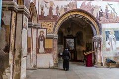 Georgian orthodox monastery Gelati inside royalty free stock images