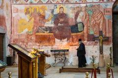 Georgian orthodox monastery Gelati inside stock photo