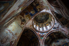 Georgian orthodox monastery Gelati inside royalty free stock photos