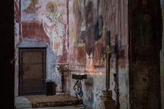 Georgian orthodox monastery Gelati inside royalty free stock photo