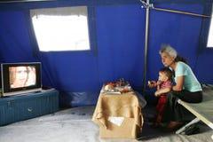 Georgian refugees in Gori Royalty Free Stock Photography