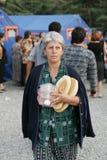 Georgian refugees in Gori Stock Photo