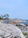georgian shoreline för fjärd Royaltyfri Fotografi