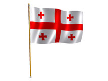 Georgian silk flag Royalty Free Stock Images