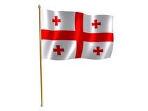 Georgian silk flag. Silk flag of Georgia Royalty Free Stock Images