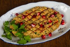 Georgian snack Phali. With salad royalty free stock photography