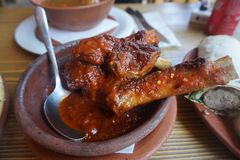 Georgian Spicy Chicken royalty free stock images