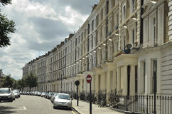 Georgian Stucco front houses in London Royalty Free Stock Photo