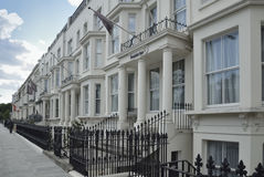 Georgian Stucco front houses in London Stock Photos