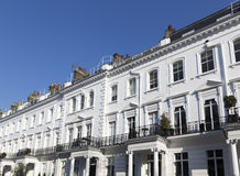 Georgian Stucco Property in London. England Royalty Free Stock Photography
