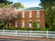 Georgian Style Home in Evandale. An elegant Georgian-style home in Russell Street, in the historic town of Evandale in Tasmania, Australia royalty free stock photo