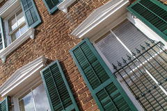 Georgian Style House Facade Stock Images