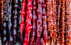 Georgian sweets yummy churchkhela Royalty Free Stock Photo