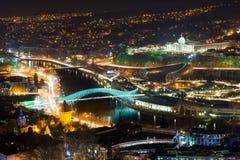 Georgian  Tbilisi at night Stock Images
