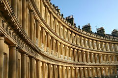 Georgian Terrace in Bath Stock Photography
