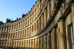 Georgian Terrace in Bath Stock Photos