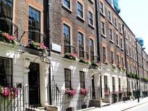 Georgian terraced houses. Regency Georgian terraced town houses in Westminster, London ,England royalty free stock photography