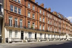 Georgian terraced town houses, london. wealth royalty free stock photos