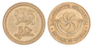 Georgian tetri coin Stock Photography