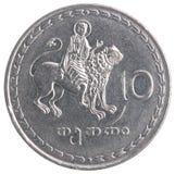 Georgian tetri coin Royalty Free Stock Photography
