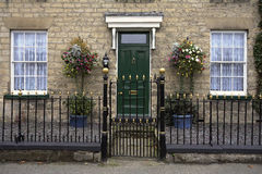 Georgian Town House - England. The front of a Georgian Town House (built in 1823) in the village of Slingsby in North Yorkshire in the United Kingdom Royalty Free Stock Photos