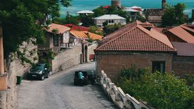 Georgian town of Sighnaghi stock footage