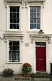 Georgian townhouse facade london city house Stock Image