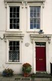 Georgian townhouse facade london city house Stock Image