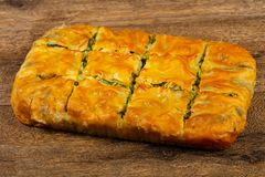 Georgian traditional Achma. Pie with cheese royalty free stock image