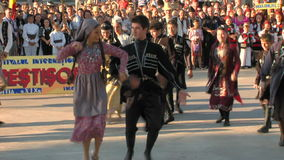 Georgian traditional dance at the International Folklore Festival stock video footage