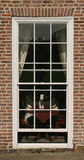 Georgian window. Window - Full height Square Georgian Box Sash stock photography
