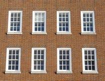 Georgian windows. Windows and brick exterior of a Georgian style property in London, England royalty free stock photo